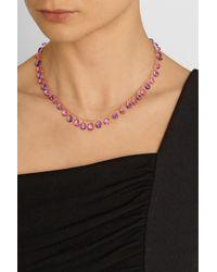 Munnu - Purple 22-Karat Gold, Amethyst And Tourmaline Necklace - Lyst