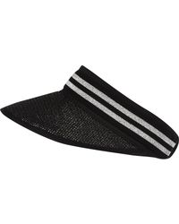 River Island - Black Sporty Striped Visor - Lyst
