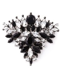 Ermanno Scervino - Black Crystal Triangle Brooch - Lyst