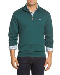Vineyard Vines | Green Quarter Zip Pullover Sweatshirt for Men | Lyst