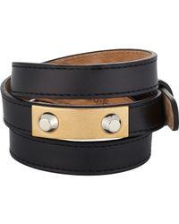 Balenciaga | Black Studded Wrap Bracelet | Lyst
