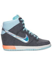 Nike - Blue Women'S Dunk Sky High Premium Casual Sneakers From Finish Line - Lyst