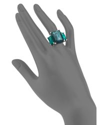 Ippolita | Blue Rock Candy Wonderland Kelly Semi-precious Multi-stone & Sterling Silver Three-stone Ring | Lyst