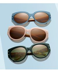Tory Burch - Pink Toggle-hinge Cat-eye Sunglasses - Lyst