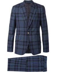 Vivienne Westwood - Blue Plaid Two-piece Suit for Men - Lyst