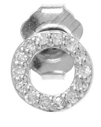 KC Designs - Metallic White Gold Diamond O Single Stud Earring - Lyst