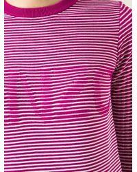 KENZO | Purple Logo Striped Sweater | Lyst