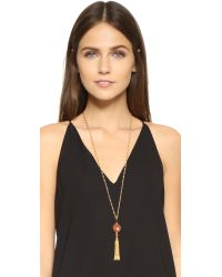 Gas Bijoux | Serti Pompon Necklace - Red/gold | Lyst