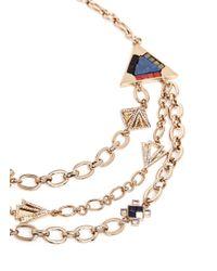 Lulu Frost - Metallic 'petra' Crystal Pavé Stone Mosaic Tier Necklace - Lyst