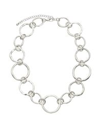 John Lewis | Metallic Mixed Circles Necklace | Lyst