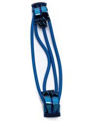 Eddie Borgo - Blue Noted Ribbon Cable Cuff - Lyst