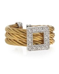 Charriol | Metallic Squarediamond Cable Ring | Lyst