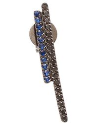 Asherali Knopfer | Diamond And Blue Sapphire Bar Earring | Lyst