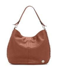 Vince Camuto | Brown Inez Leather Hobo Bag | Lyst