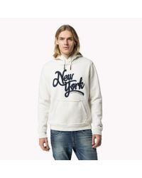 Tommy Hilfiger | White Cotton Blend Hoody for Men | Lyst