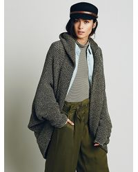 Free People - Gray Womens Coco Cocoon Cardigan - Lyst
