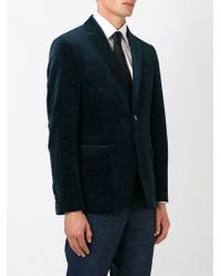 Etro - Blue Two Button Blazer for Men - Lyst