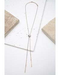 Forever 21 | Metallic Faux Stone Bolo Necklace | Lyst