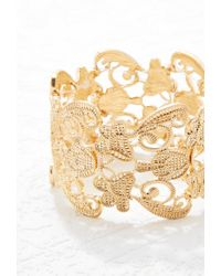Forever 21 | Metallic Ornate Filigree Bracelet | Lyst
