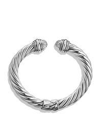 David Yurman | Metallic Cable Classics Pavé Tip Bracelet With Diamonds | Lyst