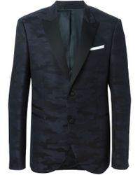 Neil Barrett - Blue Camouflage Jacquard Blazer for Men - Lyst
