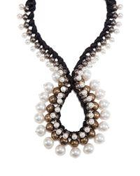 Lanvin - Black Circle Strand Necklace - Lyst