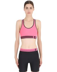 Under Armour | Pink Heatgear Alpha Training Sports Bra | Lyst