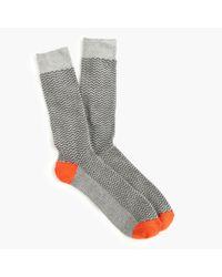 J.Crew - Gray Zigzag Socks for Men - Lyst
