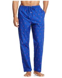 Polo Ralph Lauren | Blue Drawstring Pony-print Pajama Pants for Men | Lyst