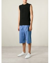 Alexander McQueen - Blue Loose Fit Shorts for Men - Lyst