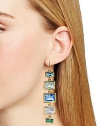 Ralph Lauren | Blue Lauren Baguette Bezel Set Linear Earrings | Lyst