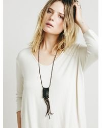 Free People | Brown Clp Jewelry Womens Leather Poco Pendant | Lyst