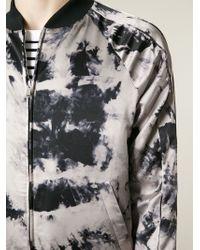 Iceberg - Black Tie Dye Print Bomber Jacket for Men - Lyst