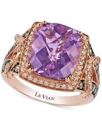 Le Vian | Pink Chocolatier Amethyst (4-2/5 Ct. T.w.) And Diamond (3/5 Ct. T.w.) Ring In 14k Rose Gold | Lyst