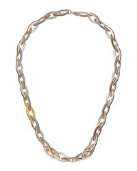 Gurhan - Metallic Sterling Silver 24k Goldaccent Marquis Link Necklace - Lyst