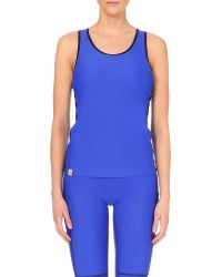Monreal London | Blue Racerback Jersey Top | Lyst