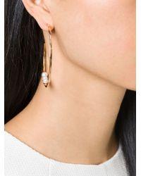 Vita Fede | Metallic Pearl Loop Earrings | Lyst