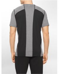 Calvin Klein | Black Performance Colorblock Reflective Print Short Sleeve Shirt for Men | Lyst