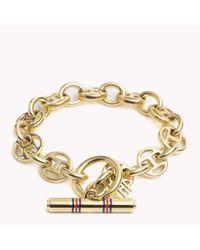 Tommy Hilfiger - Metallic Flag Link Bracelet - Lyst