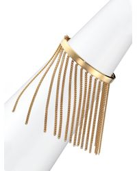 Chloé | Metallic Delphine Fringe Chain Bangle Bracelet | Lyst