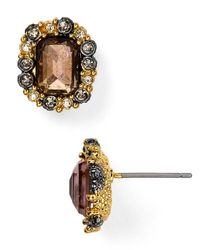 Alexis Bittar | Metallic Elements Emerald Cut Pink Tourmaline & Pyrite Stud Earrings | Lyst