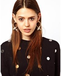 ASOS | Metallic Limited Edition Premium Jewel Snake Earrings | Lyst