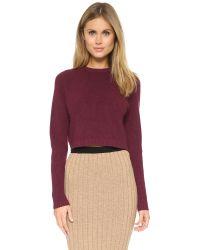 Ronny Kobo - Purple Antonina Crop Sweater - Lyst