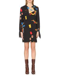 J.W.Anderson | Black Abstract-print Stretch-crepe Dress | Lyst