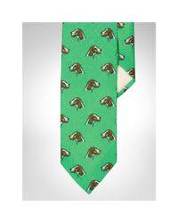 Polo Ralph Lauren | Green Dog-print Linen Narrow Tie for Men | Lyst