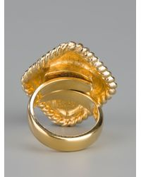 Dior - Metallic Vintage Cocktail Ring - Lyst