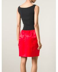 Lanvin - Red Sleeveless Dress - Lyst