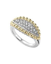 Lagos | Metallic 'caviar' Diamond Marquise Ring | Lyst