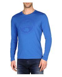 Napapijri - Blue Long Sleeve T-shirt for Men - Lyst