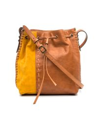 DANNIJO | Brown Thalia Leather & Suede Bucket Bag | Lyst